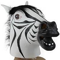 Маска латексная Зебра, голова Зебры, фото 1