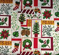 """Ткань """"Рождество"""" отрез 45х45 см., фото 1"""