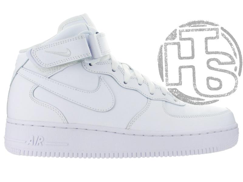new styles 2bcfb 79304 Женские кроссовки Nike Air Force 1 Mid White (с мехом) 315123-111