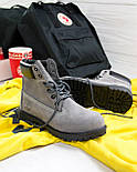 Зимние женские ботинки T1mberland 6 inch gray black (Реплика ААА+), фото 3