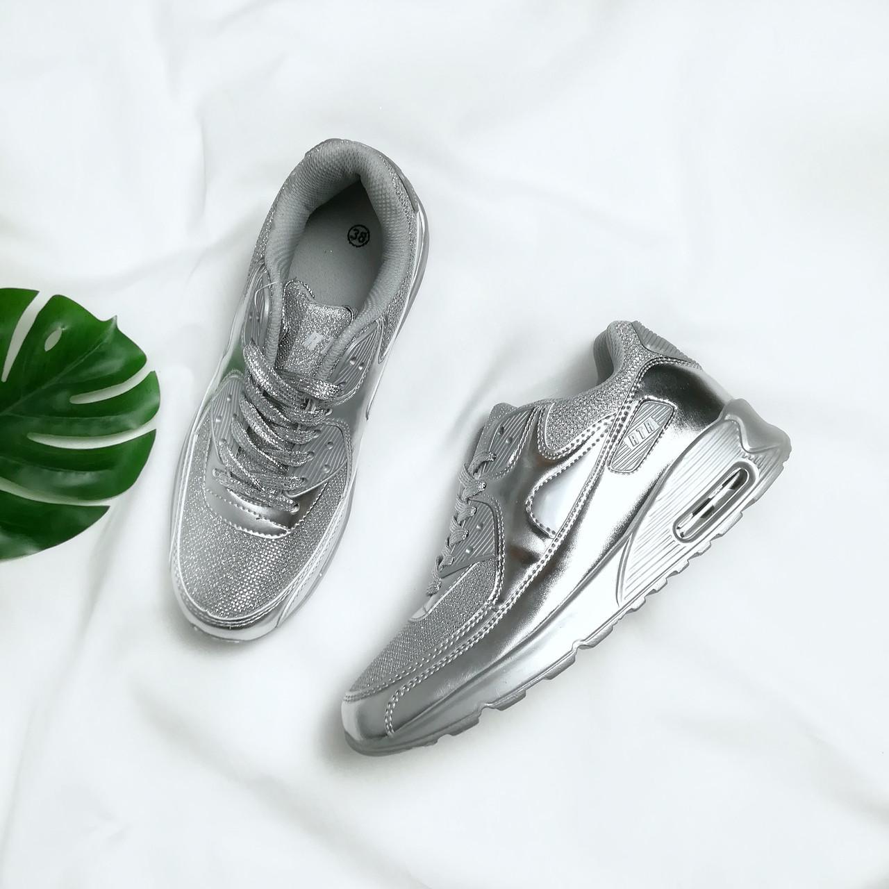 Жіночі кросівки срібні металік женские кроссовки  продажа 0b386b0efd51a