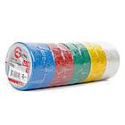 Лента изоляционная 0,15 мм x 17 мм x 10 м цветная (упаковка 10 шт) INTERTOOL IT-0014, фото 2