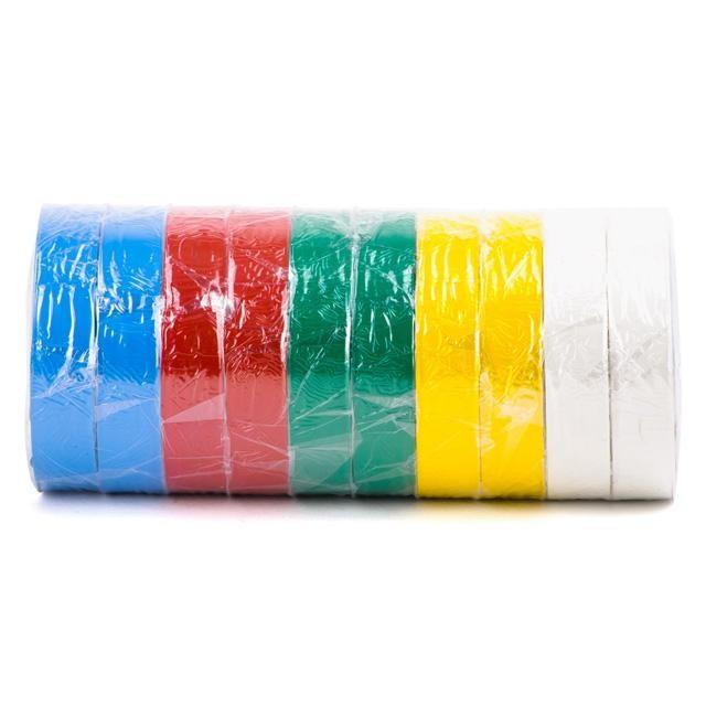 Лента изоляционная 0,15 мм x 17 мм x 25 м цветная INTERTOOL IT-0029