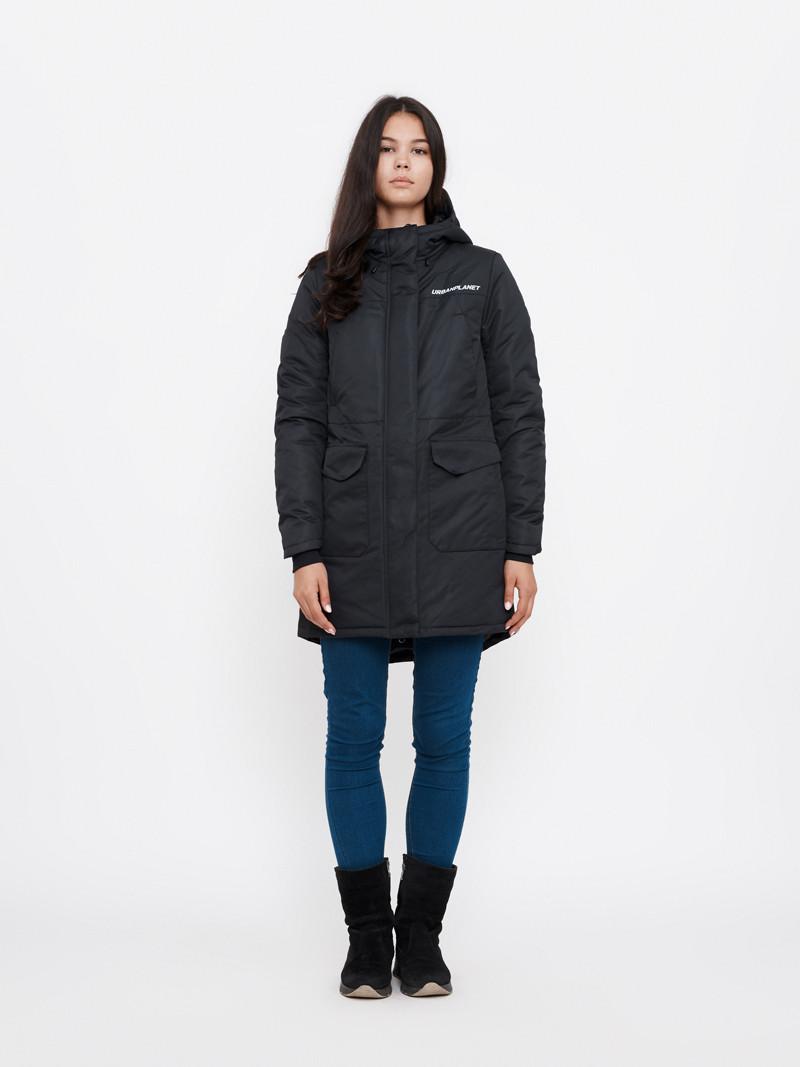Зимняя куртка парка женская AW8 BLK Urban Planet черная (женская куртк