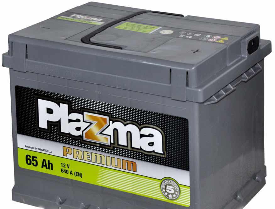 Акумулятор автомобільний 6СТ-65Ач. 640A. PLAZMA Premium