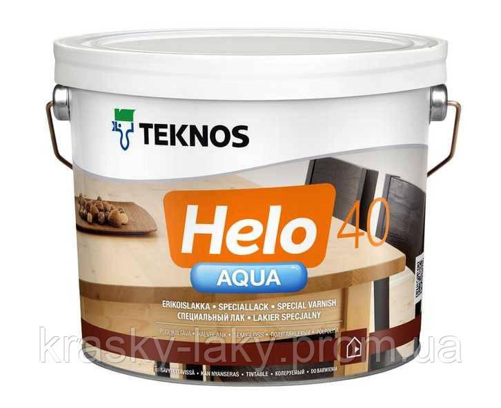Лак HELO AQUA 20, 40, 80 TEKNOS водный полиуретановый, 2.7л.