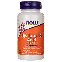 Гіалуронова кислота NOW Foods Hyaluronic Acid 50 mg 60 caps