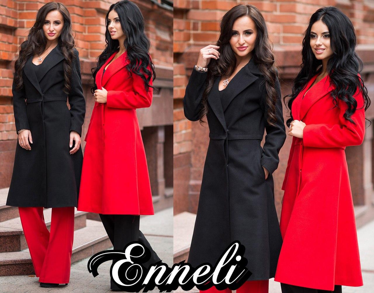 Женское пальто-куртка - трансформер в расцветках. А-5-1018