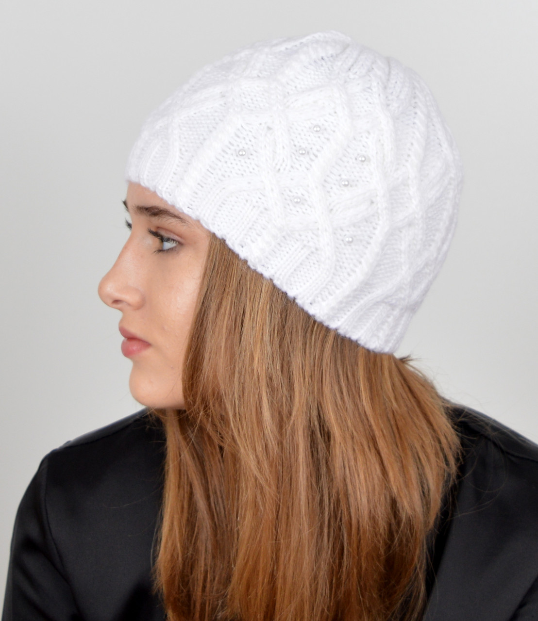 "Женская шапка ""Дори""  Белый"