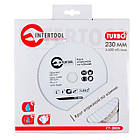 Диск отрезной Turbo, алмазный 230 мм, 16-18 INTERTOOL CT-2005, фото 3