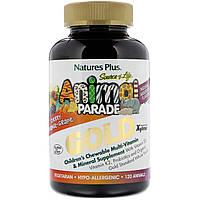 Мультивитамины и минералы Gold для детей премиум качества, 120 животных Animal Parade Gold