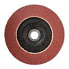 Диск шлифовальный лепестковый 180x22 мм, зерно K100 INTERTOOL BT-0230, фото 2