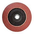 Диск шлифовальный лепестковый 180x22 мм, зерно K120 INTERTOOL BT-0232, фото 2