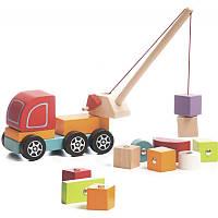 Деревянная машинка авто-кран Cubika 13982