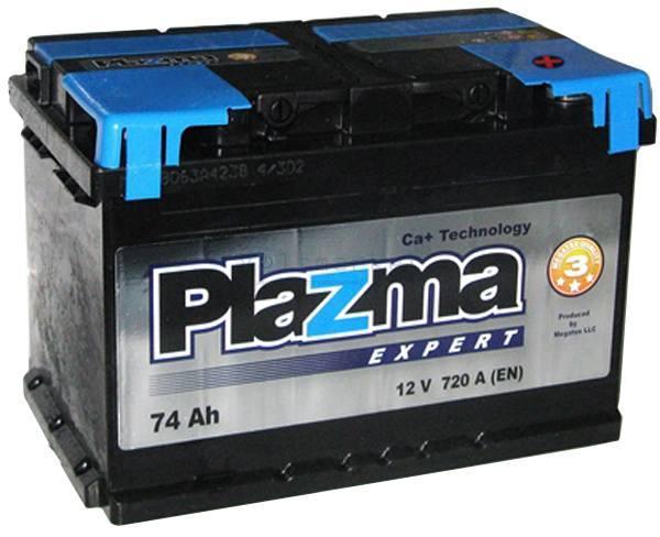 Аккумулятор автомобильный 6СТ-74Ач. 720A. PLAZMA EXPERT