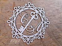 Зеркальные гербы, свадебные гербы,монограммы, рамки с инициалами, свадебный декор