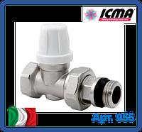 Прямой микрометрический нижний вентиль Icma 1/2, фото 1