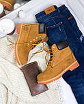 Зимние мужские ботинки Timberland classic 6 inch yellow без меха (Реплика ААА+), фото 7