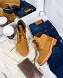 Зимние мужские ботинки Timberland classic 6 inch yellow без меха (Реплика ААА+), фото 2