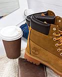 Зимние мужские ботинки Timberland classic 6 inch yellow без меха (Реплика ААА+), фото 6