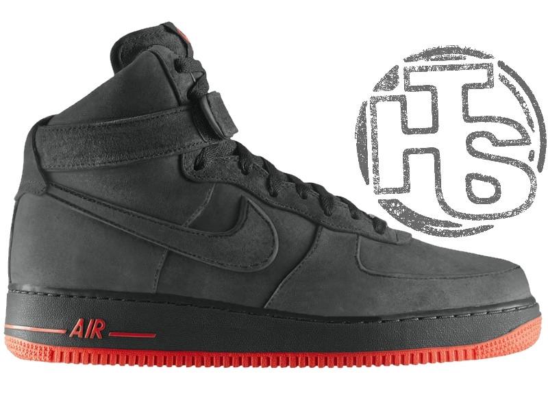 Чоловічі кросівки Nike Air Force 1 High VT Vac Tech Premium Winter Gray/Orange (з хутром) 472496-002