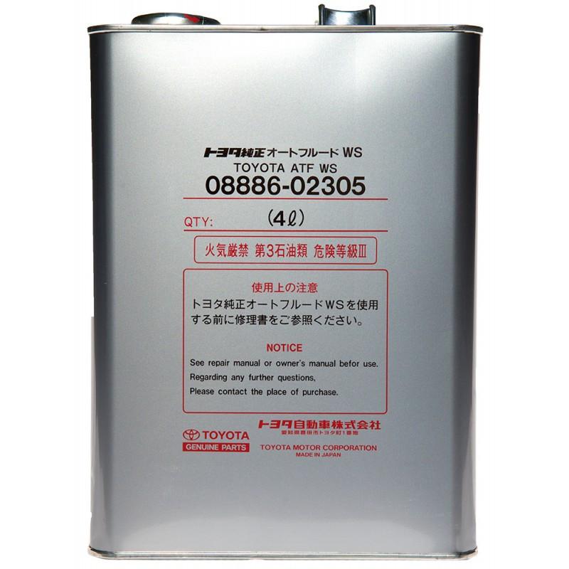 Toyota ATF WS 4L 08886-02305 Масло трансмісійне