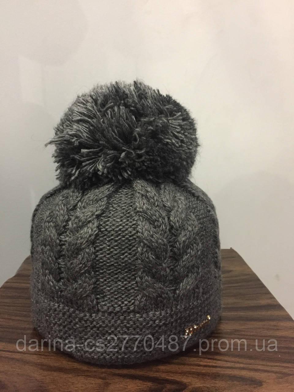 Подростковая шапка с помпоном для девочки