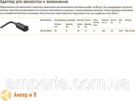 Адаптер для закороток и заземления АЗЗ-25 (PMCC) IEK, фото 2