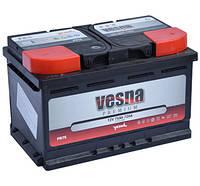 Аккумулятор автомобильный 6СТ-75Ач. 720A. VESNA Premium