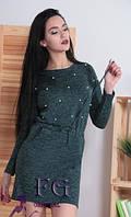 Женское платье свободного кроя зеленое 125/05, фото 1