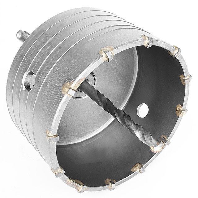 Комплект сверло корончатое по бетону 105 мм + переходник SDS Plus 100мм INTERTOOL SD-7105