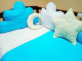Набор постельного белья в детскую кроватку из 6 предметов Облака