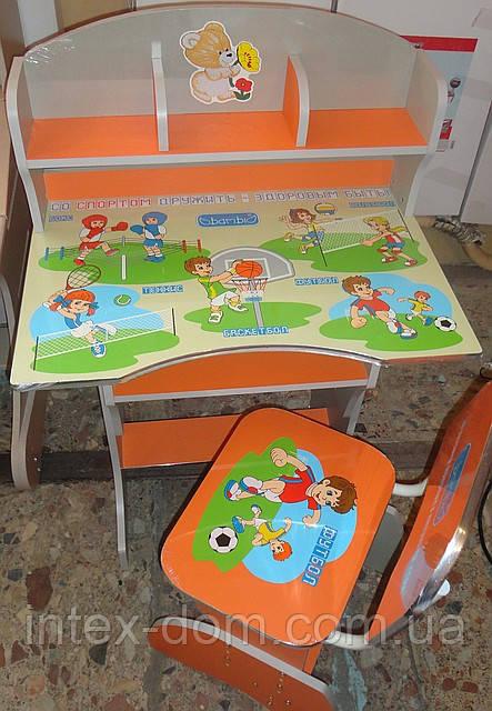 Детская парта со стульчиком трансформер Bambi HB 2070 UK-5 (стол-парта растишка) киев
