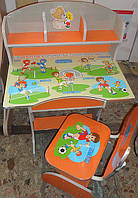 Детская парта со стульчиком трансформер Bambi HB 2070 UK-5 (стол-парта растишка) киев, фото 1