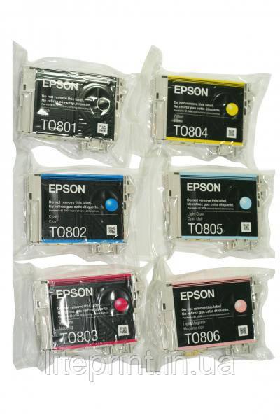 Комплект оригинальных картриджей Epson T0801 - T0806