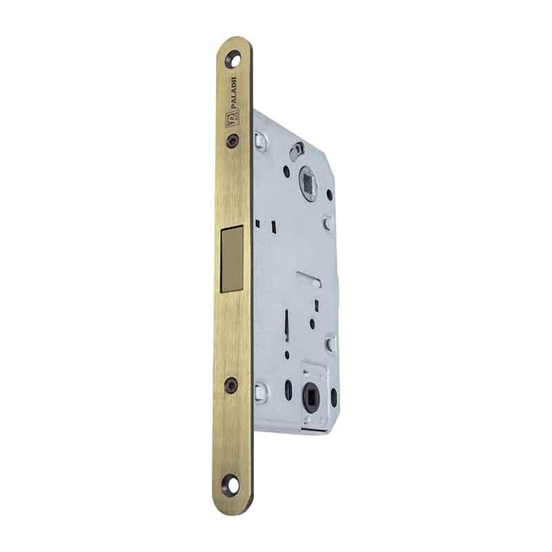 Механизм магнитный для межкомнатных дверей с фиксацией - Бронза