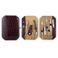 Набор маникюрный Premium GIFT #2 (10 предметов) Стильный бордо, фото 1
