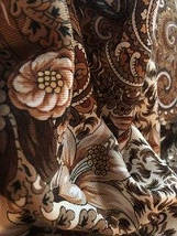 Павлопосадский шерстяной платок Осенний цветок (80см х 80см), фото 3