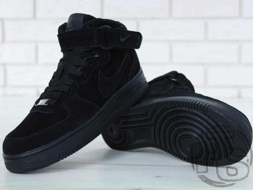 53bd6ee9 Мужские кроссовки Nike Air Force 1 Mid Triple Black Suede (с мехом) 315123-036,  цена 1 499 грн., купить в Львове — Prom.ua (ID#787137148)