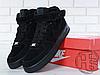Мужские кроссовки Nike Air Force 1 Mid Suede Triple Black (с мехом) 315123-036, фото 5