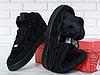 Мужские кроссовки Nike Air Force 1 Mid Suede Triple Black (с мехом) 315123-036, фото 6