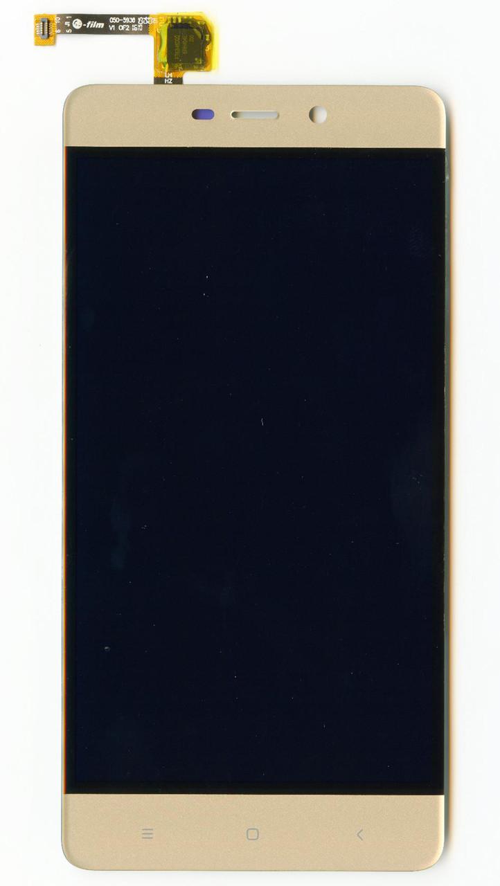 Дисплей  для Xiaomi  Redmi 4 Pro с золотистым тачскрином