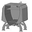"""Булерьян печь с конвекцией """"Шайтан"""" + вторичный дожиг печных газов, сталь 4-8 мм, фото 4"""