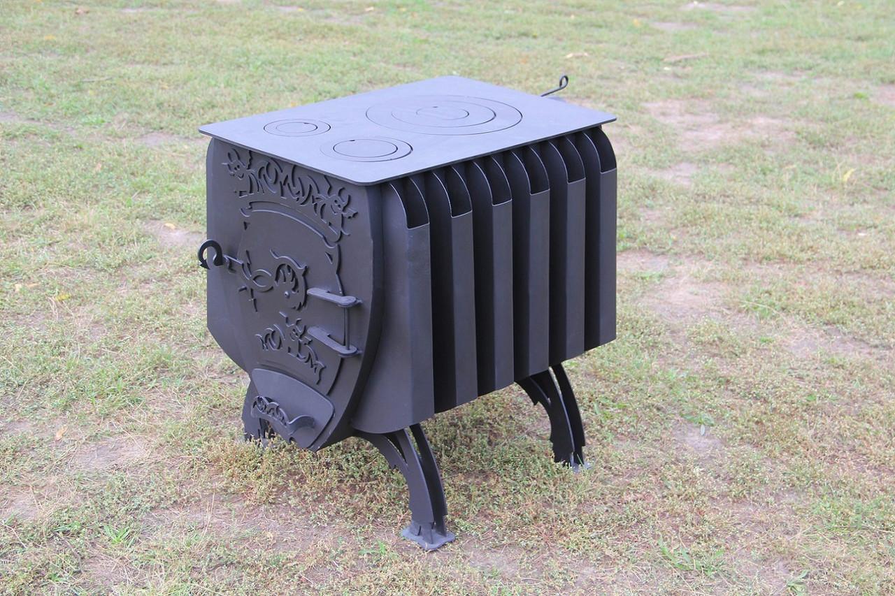 """Булерьян печь с конвекцией """"Шайтан"""" + вторичный дожиг печных газов, сталь 4-8 мм"""