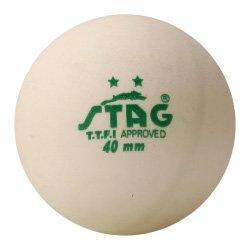 Мячики для настольного тенниса Stag Two Star White Ball 3 шт (TTBA-400)