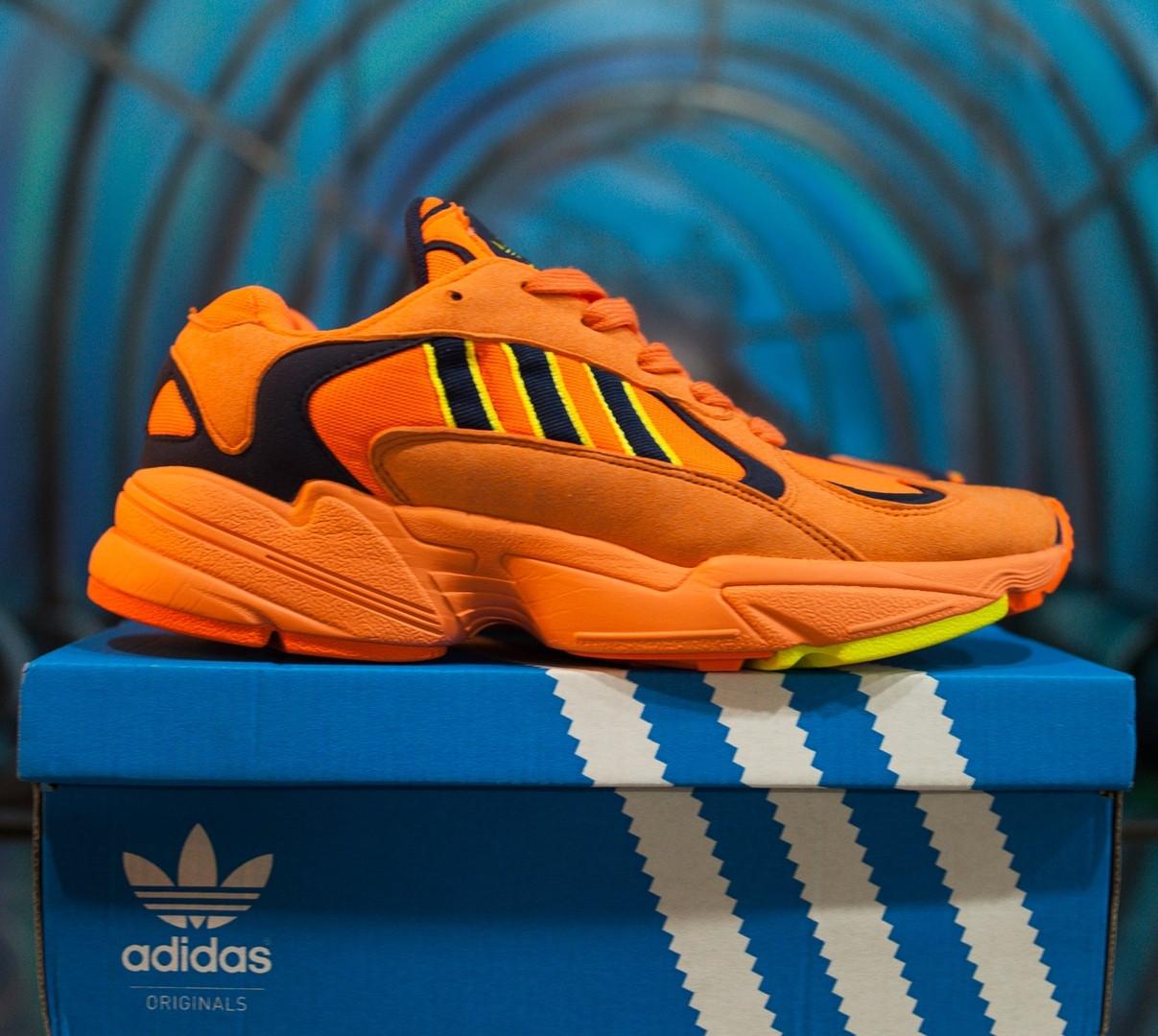 Мужские осенние кроссовки Adidas Yung 1 Orange топ реплика