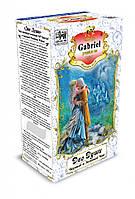 Черный и зеленый чай Gabriel в картонной пачке «Две души» - Бергамот и малина 100 гр