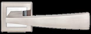 Ручка дверная на розетке MVM Frio - Z-1215 SN/CP (матовый никель/ полированный хром)
