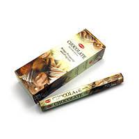Аромапалочки Chocolate (Шоколад) (Hem) шестигранник. Ароматические палочки