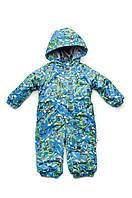 Фирменный зимний комбинезон Акварель для мальчика, мембранная ткань. Размер 80 (1-1,5 года). Голубой
